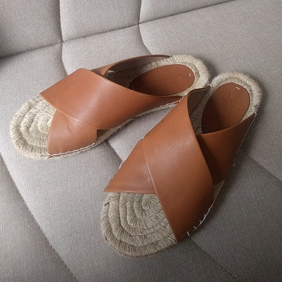 15172b0635a Soludos Criss Cross Espadrilles Sandals Leather. M 5b1c47402beb798a783e12af